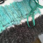 вязаный мех, вязание мехом по сетке, плетение мехом по сетке, тканный мех, меховой шарф