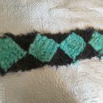 вязаный мех, шарф связанный из меха