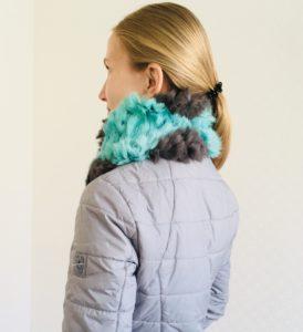 шарф вязаный мехом, вязаный меховой шарф, товары для вязания мехом, меховое вязание